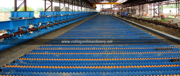 Rake type cooling bed, Automatic cooling bed